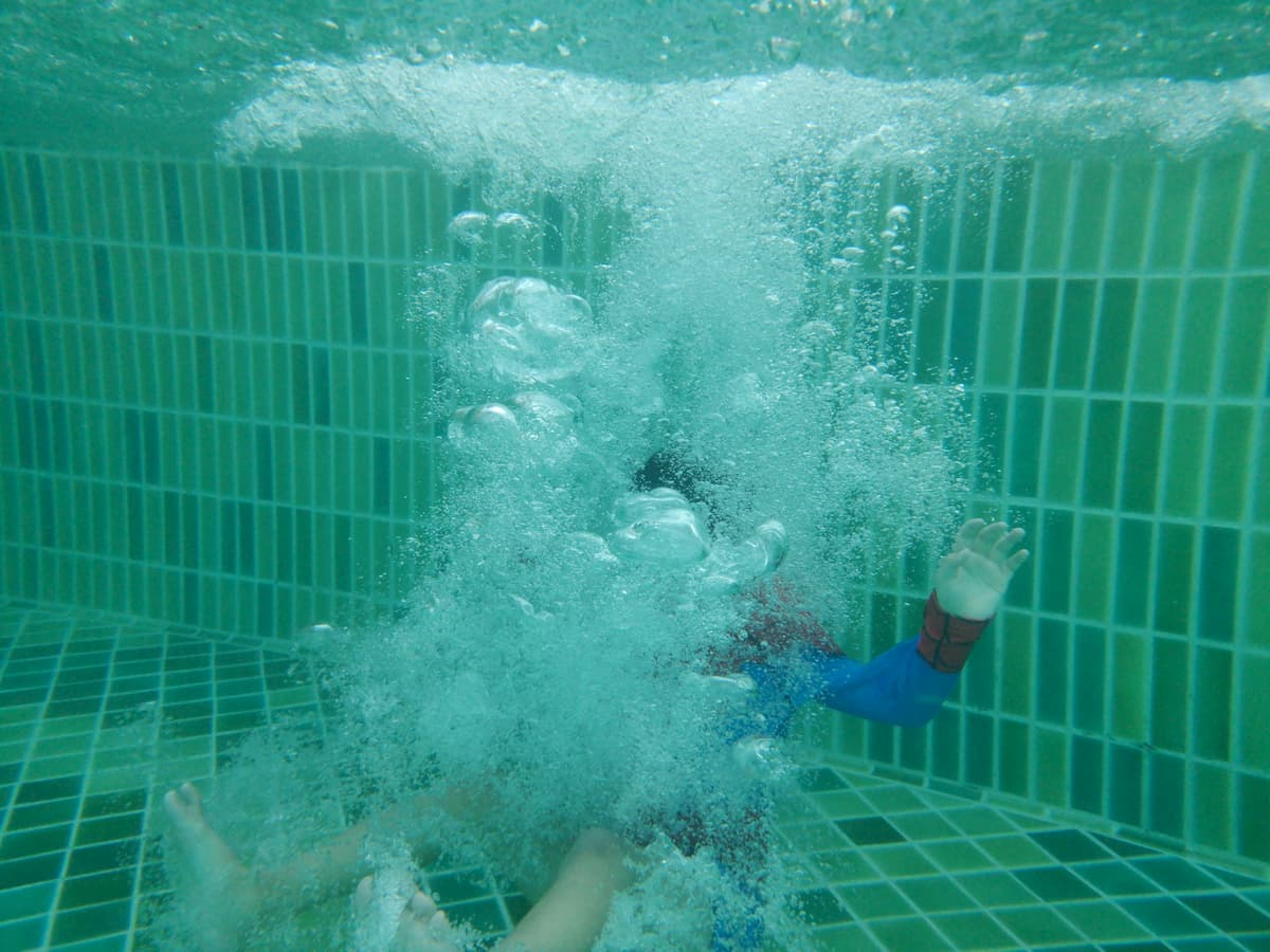 Jumping deep down underwater - Are Saltwater Pools Hard to Maintain