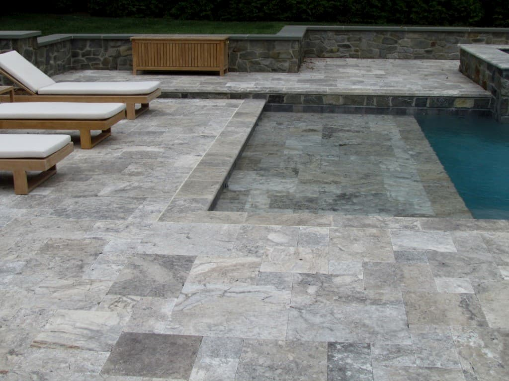 Travertine in Silver - Travertine Pavers: A Fancy Look For Your Pool Deck