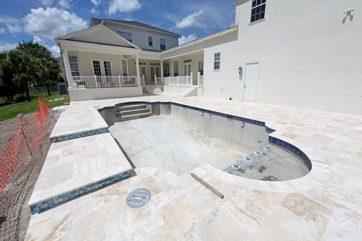 Swimming Pool under construction in Florida